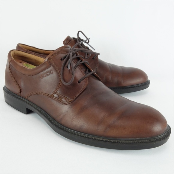 053d38540b3 ECCO Shoes | Brown Leather Lace Up Oxford Derby Eu47 Sd33 | Poshmark